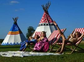 Tipitenten, Luxe kamperen tipitenten