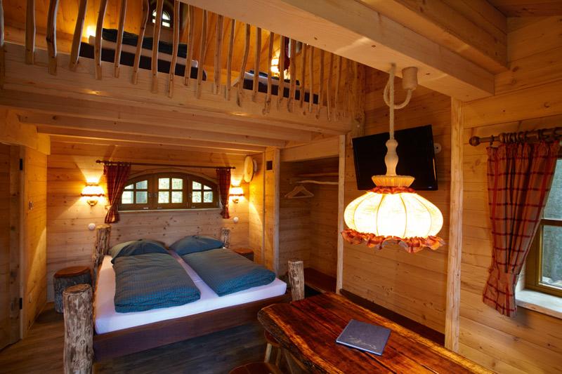slapen in een boomhut, Slapen in een boomhut