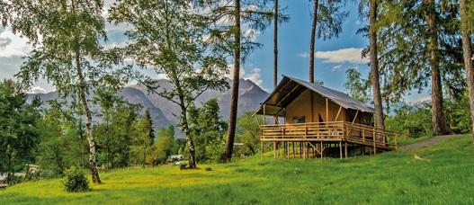 Safaritent huren Trentino in de bergen GlampingCamping